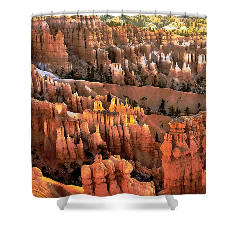 Bryce Canyon Shower Curtain featuring the photograph Sunrise Point At Sunrise by Robert Bales