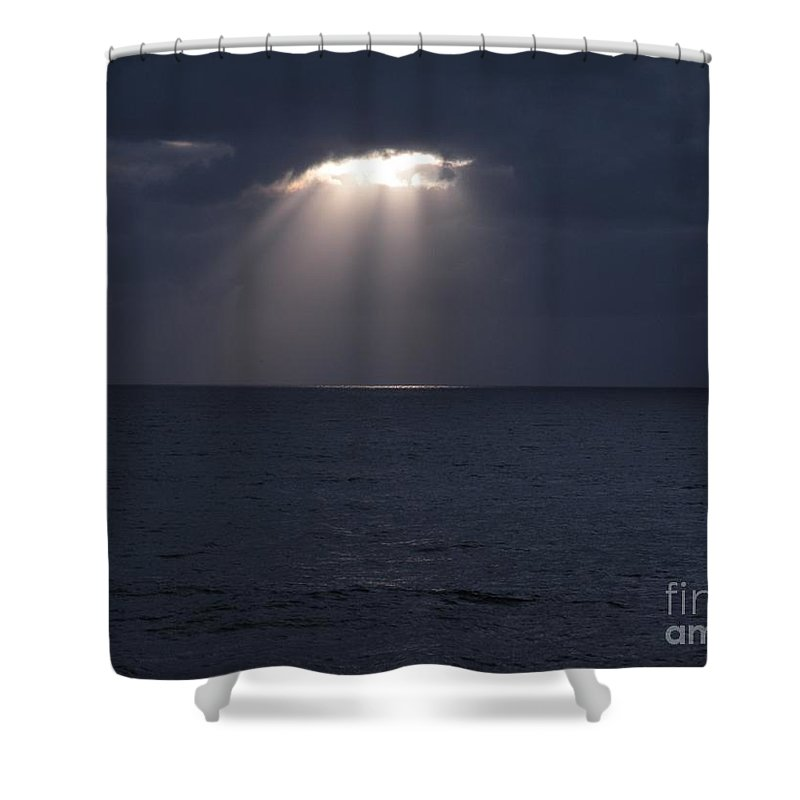 Ocean Photos Shower Curtain featuring the photograph Sunset At The Beach by Saundra Lane Galloway