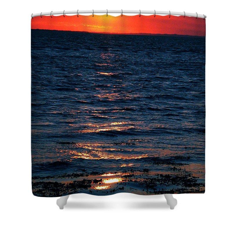 Coletteguggenheim Shower Curtain featuring the photograph Sunset Denmark Samsoe Island by Colette V Hera Guggenheim