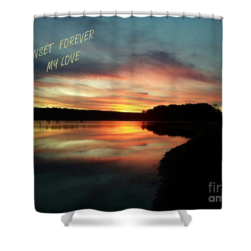 Georgia Shower Curtain featuring the photograph Sunset Forever My Love by Donna Brown