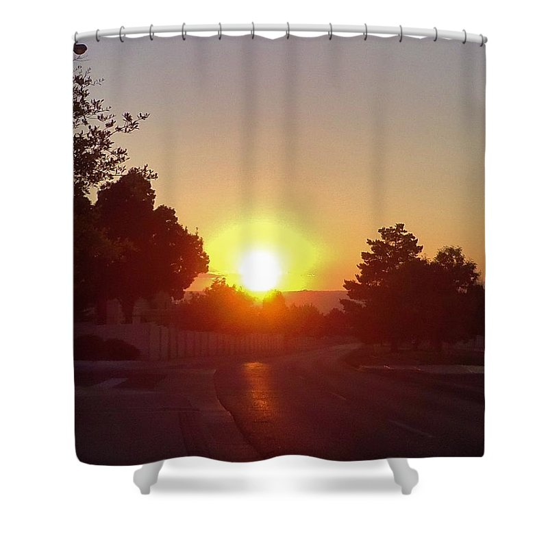 Sunset Shower Curtain featuring the photograph Sunset by Lois  Rivera