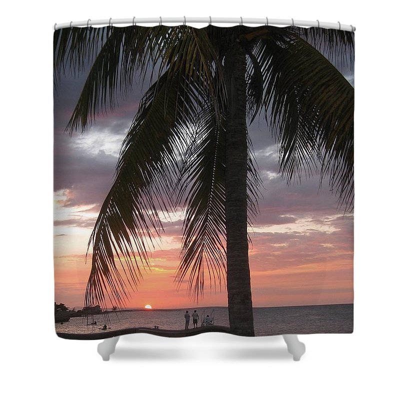 Sunset Montego Bay Shower Curtain featuring the painting Sunset Montego Bay by John Malone