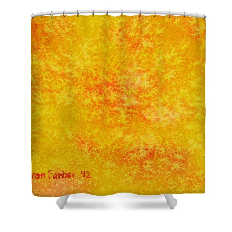Sun Shower Curtain featuring the painting Sunshine by Sharon Farber