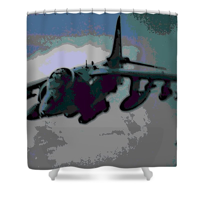 Superior Shower Curtain featuring the photograph Superior Firepower by George Pedro
