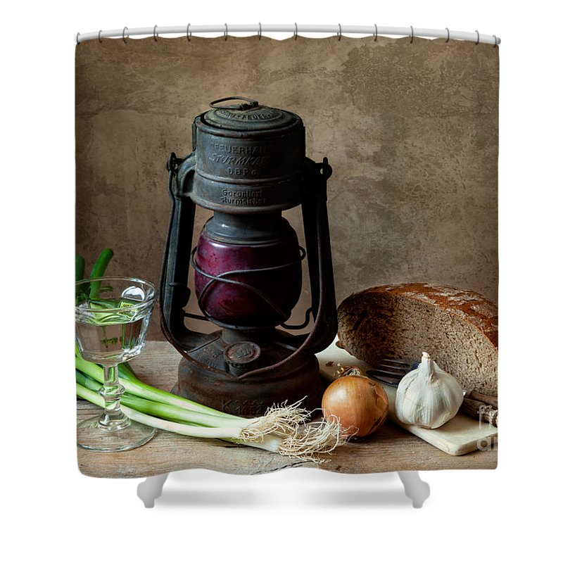 Still Shower Curtain featuring the photograph Supper by Nailia Schwarz