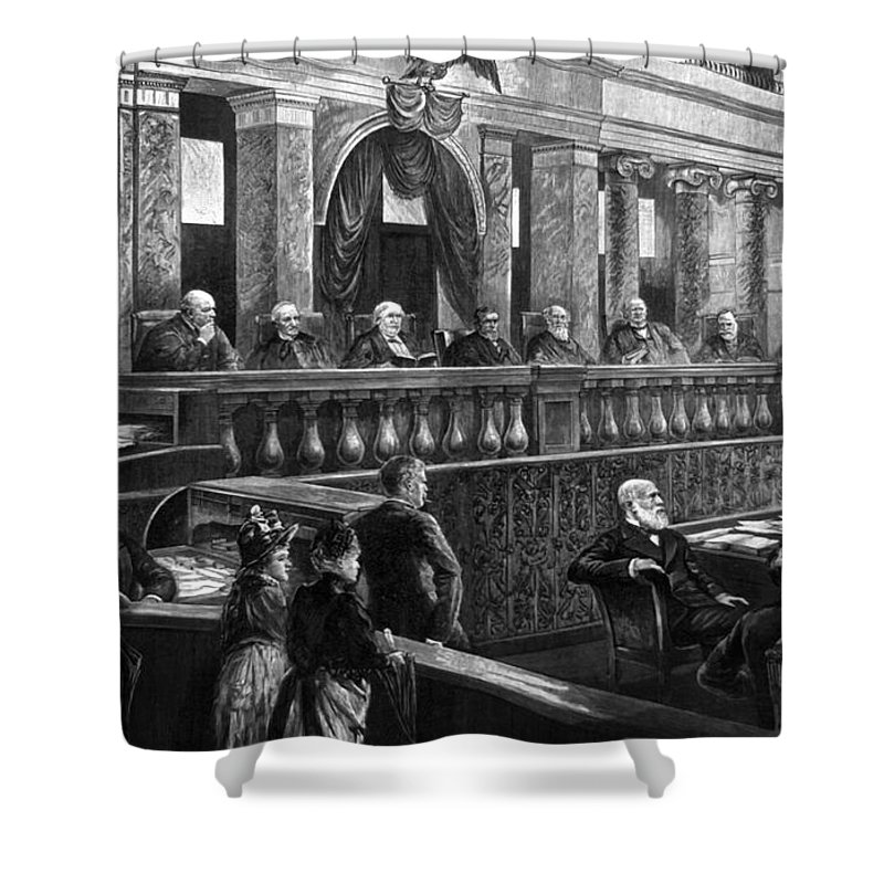 1888 Shower Curtain featuring the photograph Supreme Court, 1888 by Granger