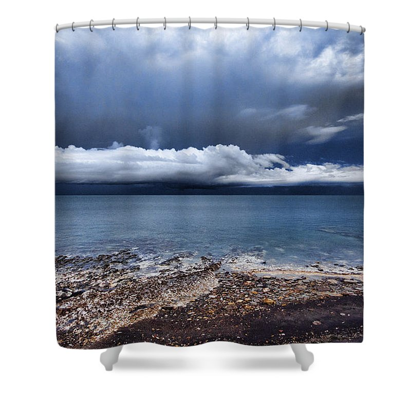Cumulus Clouds Shower Curtain featuring the photograph Surface Clouds by Douglas Barnard