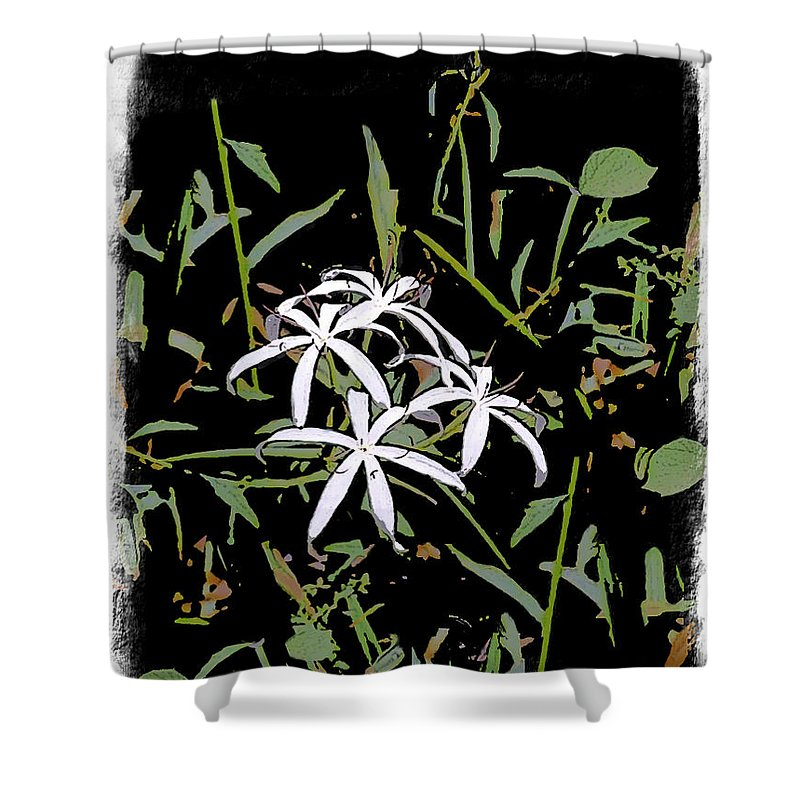 Lily Shower Curtain featuring the painting Swamplilies by Gabriele Ervin