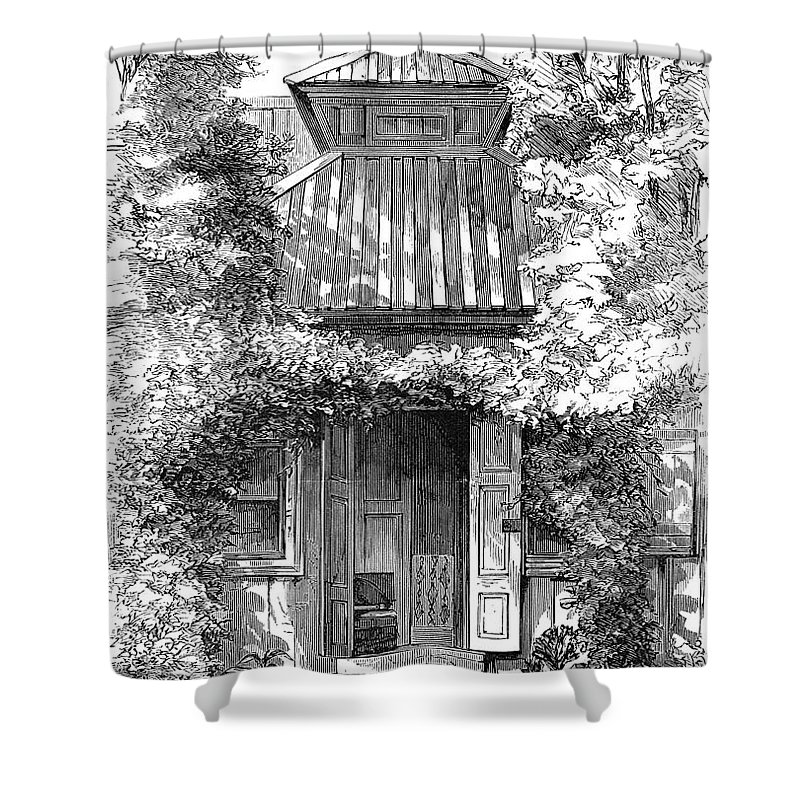 18th Century Shower Curtain featuring the photograph Swedenborgs Cottage by Granger