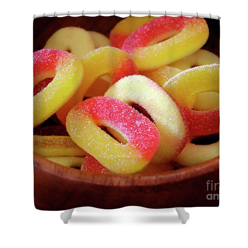 Abuse Shower Curtain featuring the photograph Sweeter Candys by Carlos Caetano