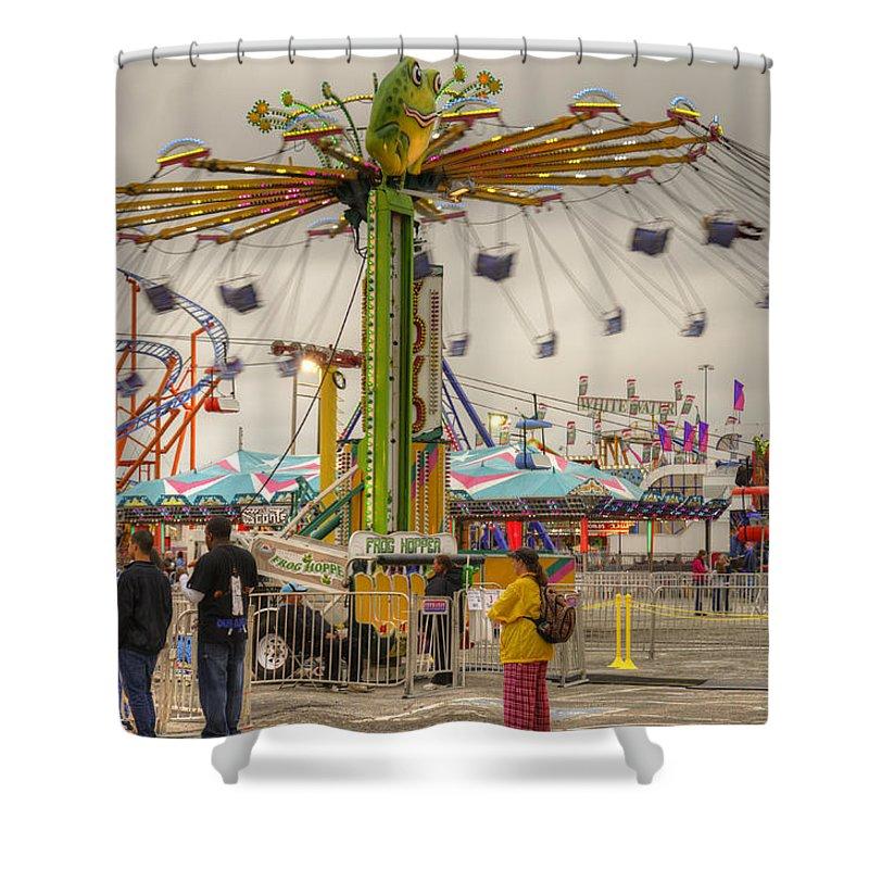 Fair Shower Curtain featuring the photograph Swinging by Ricky Barnard