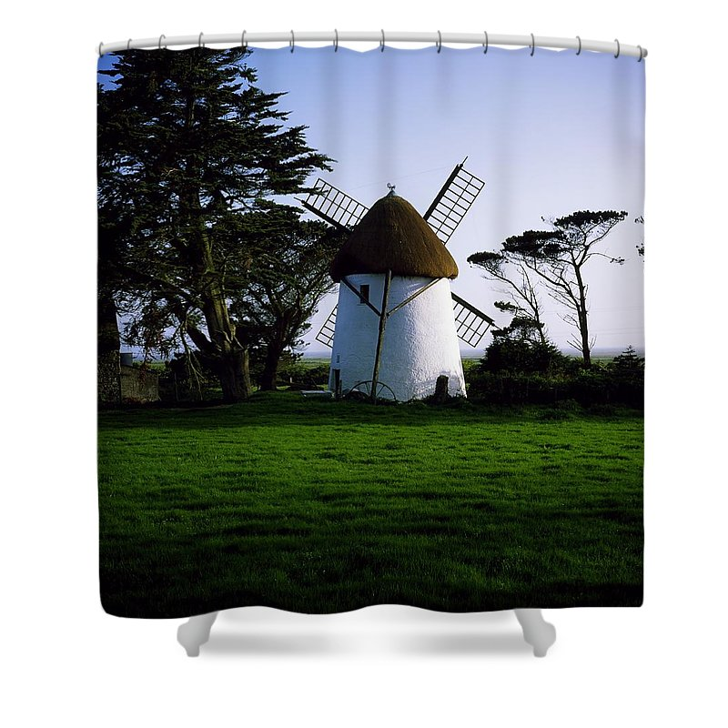 Craft Shower Curtain featuring the photograph Tacumshane Windmill, Co Wexford, Ireland by The Irish Image Collection