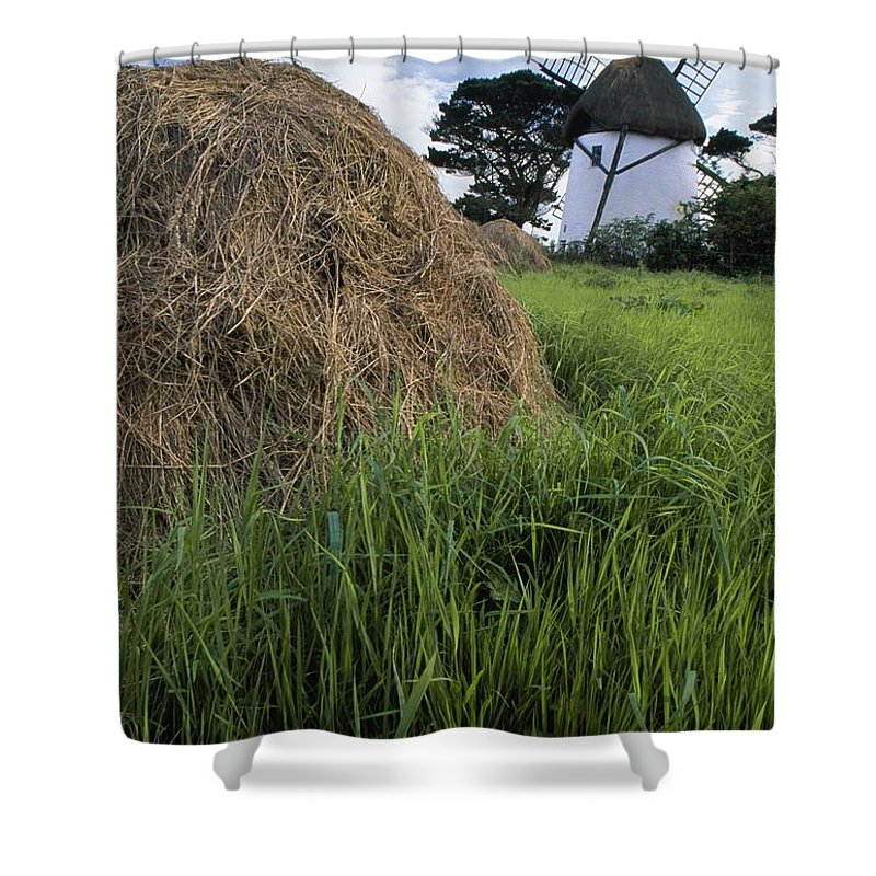 County Wexford Shower Curtain featuring the photograph Tacumshane Windmill, County Wexford by Richard Cummins