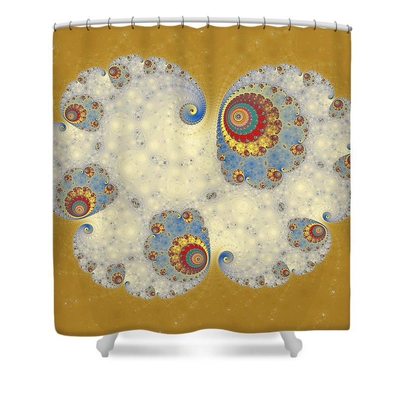 Fractal Shower Curtain featuring the digital art Tangent Logistic by Mark Greenberg