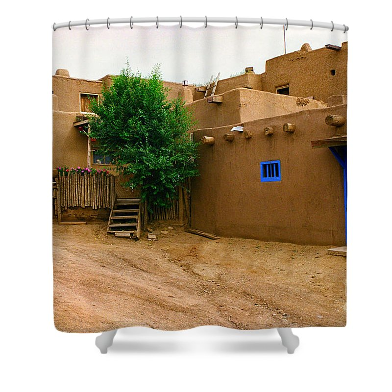 Taos Shower Curtain featuring the photograph Taos by Jerry McElroy