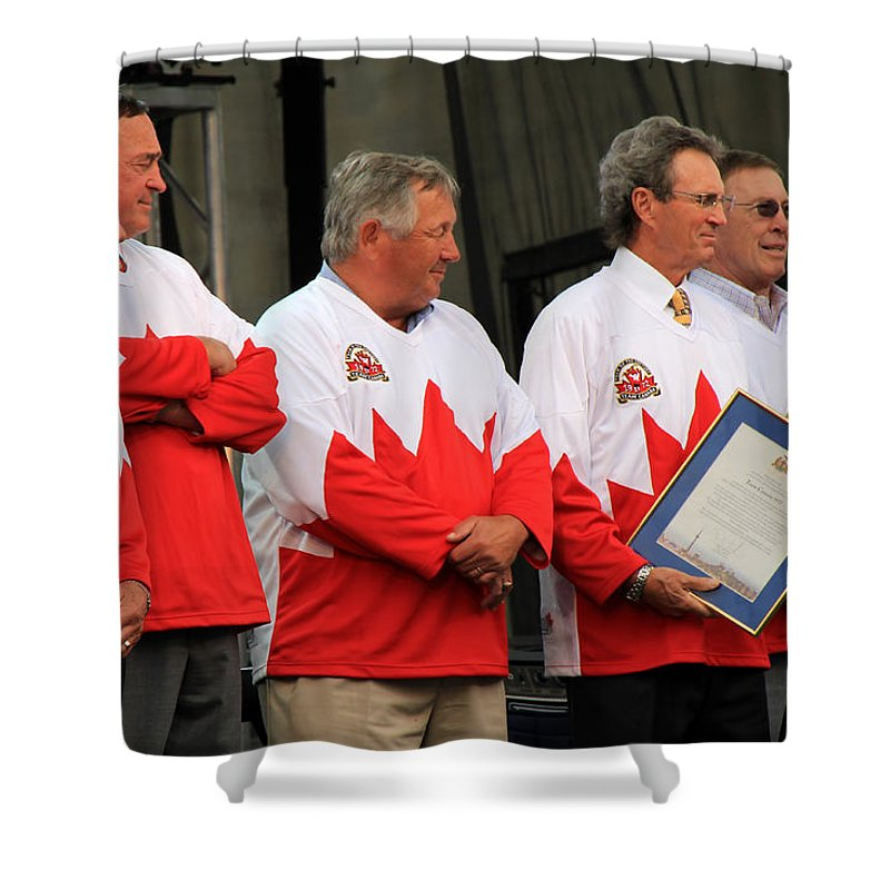 Team Canada Shower Curtain featuring the photograph Team Canada 1 by Andrew Fare