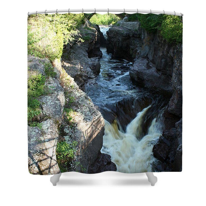 Shower Curtain featuring the photograph Temperance River 3 by Joi Electa