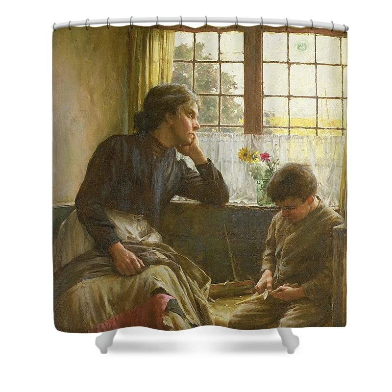 Tender Grace Of A Day That Is Dead Shower Curtain Featuring The Painting