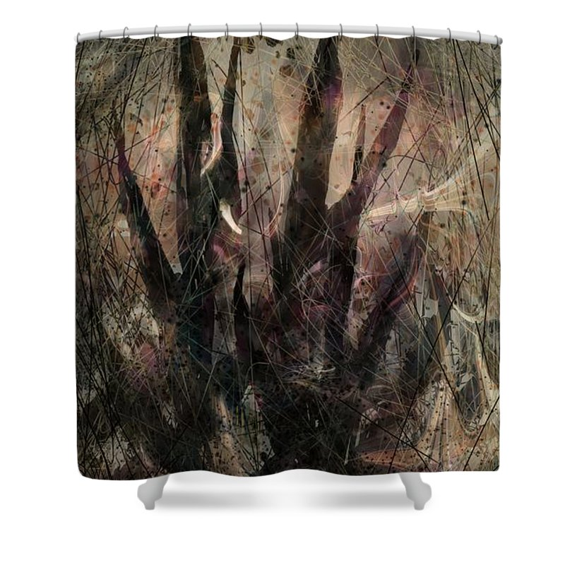 Landscape Shower Curtain featuring the digital art Tequila Sunrise by William Russell Nowicki