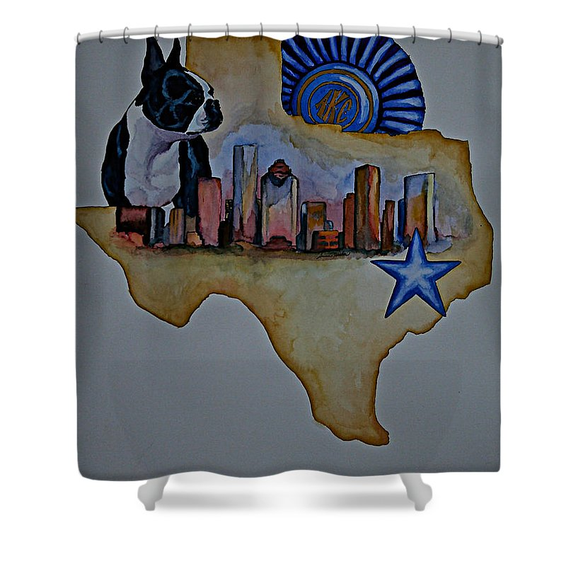 Shower Curtain featuring the painting Texas Bound 3 by Susan Herber