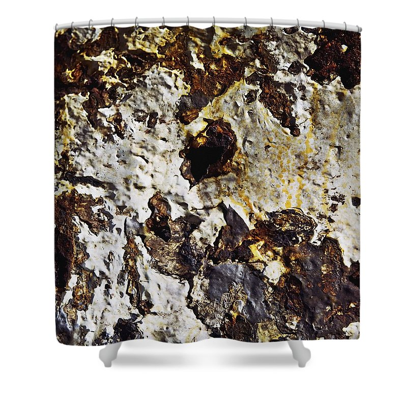 Paint Shower Curtain featuring the photograph Textures Close Up Of A Rusted Texture by Sici