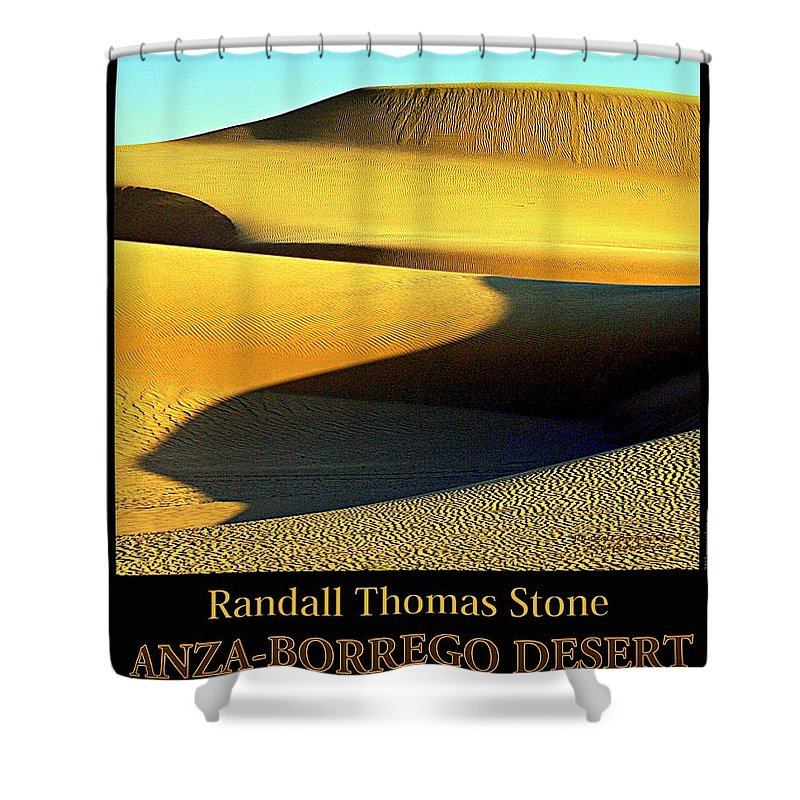 Sand Shower Curtain featuring the photograph Textures In Sand - Melting Mesa by Randall Thomas Stone
