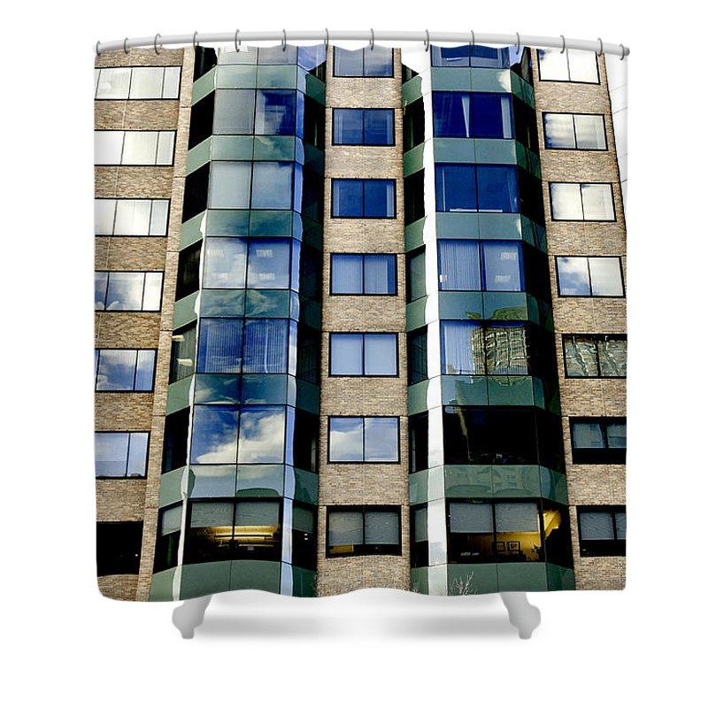 Art Shower Curtain featuring the photograph Textures Of The City by Greg Fortier