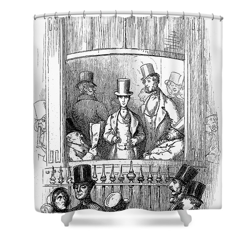 1855 Shower Curtain featuring the photograph Thackeray: Newcomes, 1855 by Granger