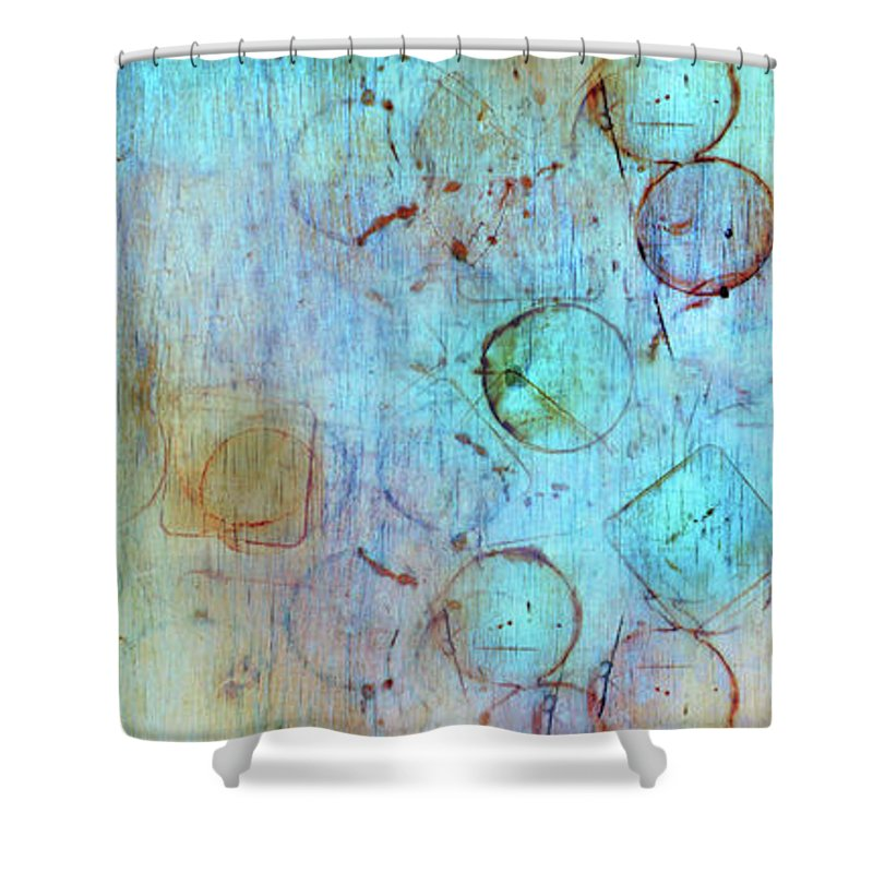 Abstract Shower Curtain featuring the digital art The Beauty In Shapes by Tara Turner