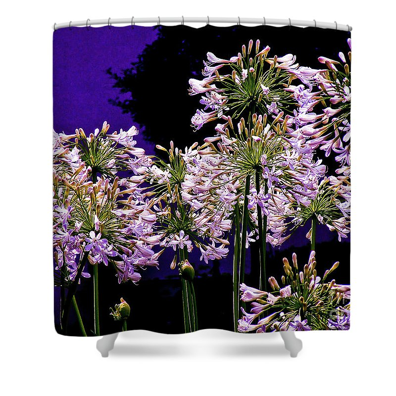 Flower Shower Curtain featuring the photograph The Beauty Of Flowering Garlic by Frances Hattier