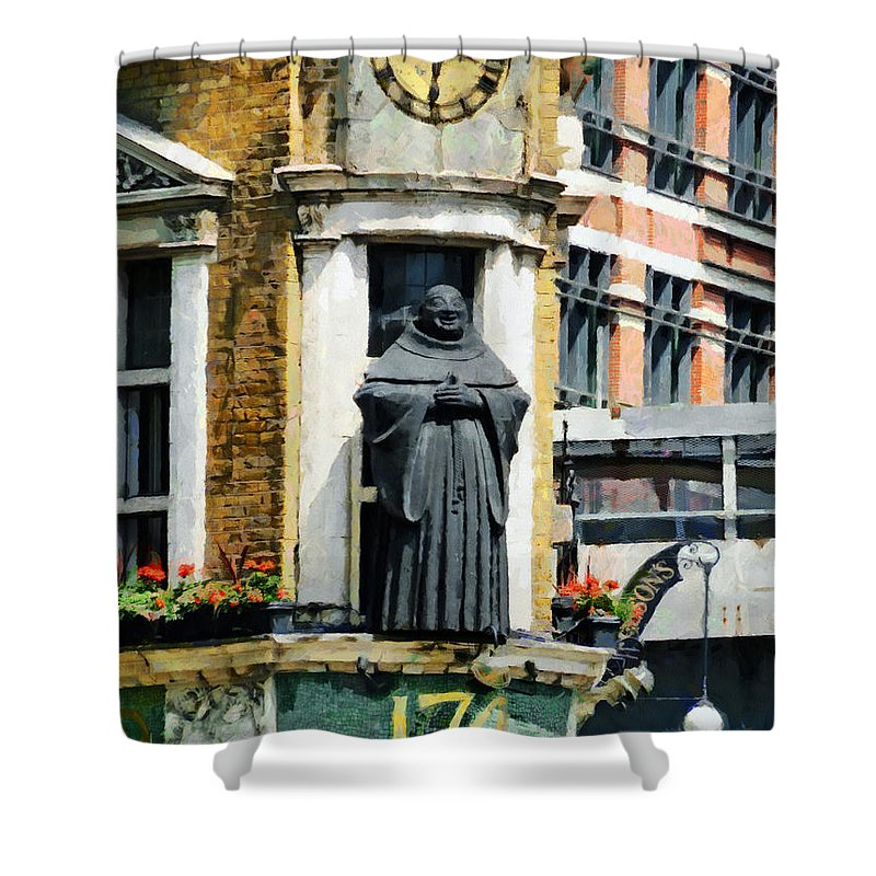 Black Friar Shower Curtain featuring the photograph The Black Friar Pub In London by Steve Taylor