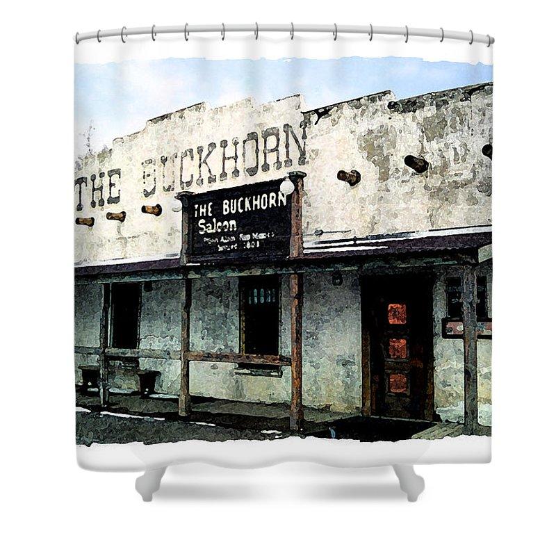 Photography Shower Curtain featuring the photograph The Buckhorn Saloon by Vicki Pelham