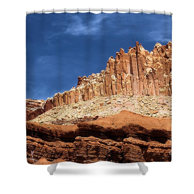 Shower Curtain featuring the photograph The Castle by Adam Jewell