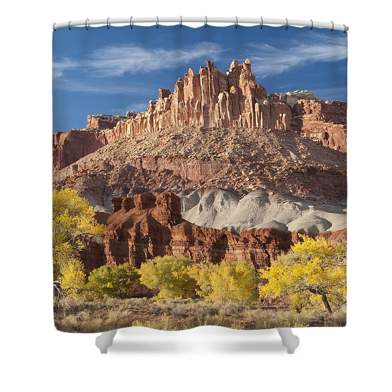 Southwest Shower Curtain featuring the photograph The Castle by Sandra Bronstein