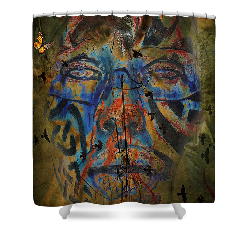 Aces Shower Curtain featuring the photograph The Change Of Faces by The Artist Project