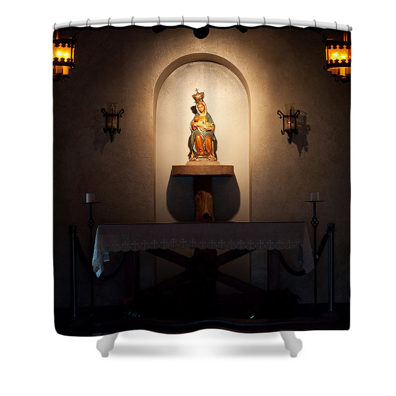 Mission Shower Curtain featuring the photograph The Christmas Spirit by Kenneth Albin