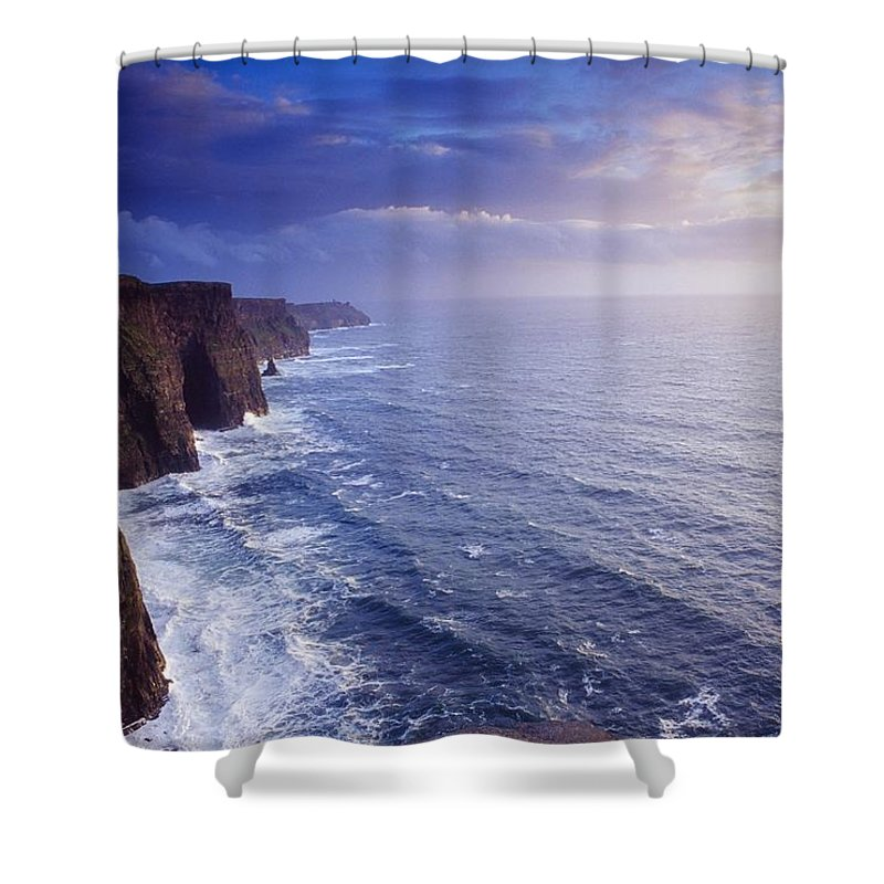 Attraction Shower Curtain featuring the photograph The Cliffs Of Moher, County Clare by Gareth McCormack