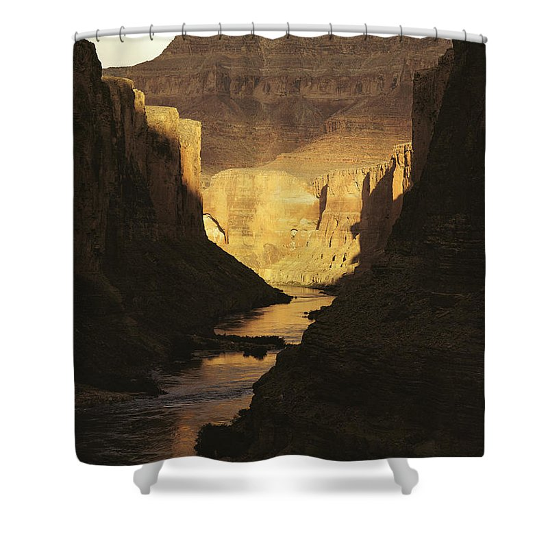 Geography Shower Curtain featuring the photograph The Colorado River Flows by Michael Nichols