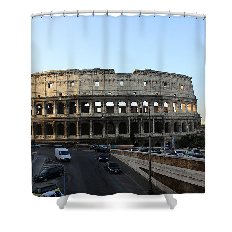 Rome Shower Curtain featuring the photograph The Colosseum in Rome by Munir Alawi