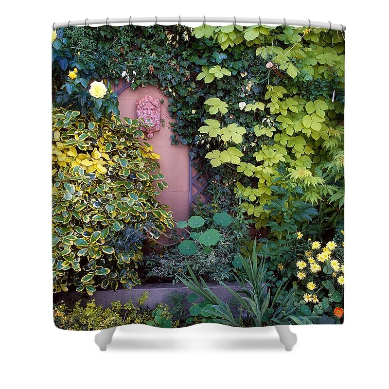 Day Shower Curtain featuring the photograph The Courtyard Garden, Fairfield Lodge by The Irish Image Collection