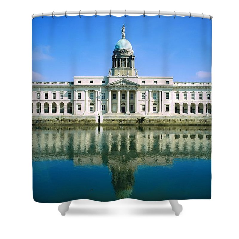 Administration Shower Curtain featuring the photograph The Custom House, River Liffey, Dublin by The Irish Image Collection