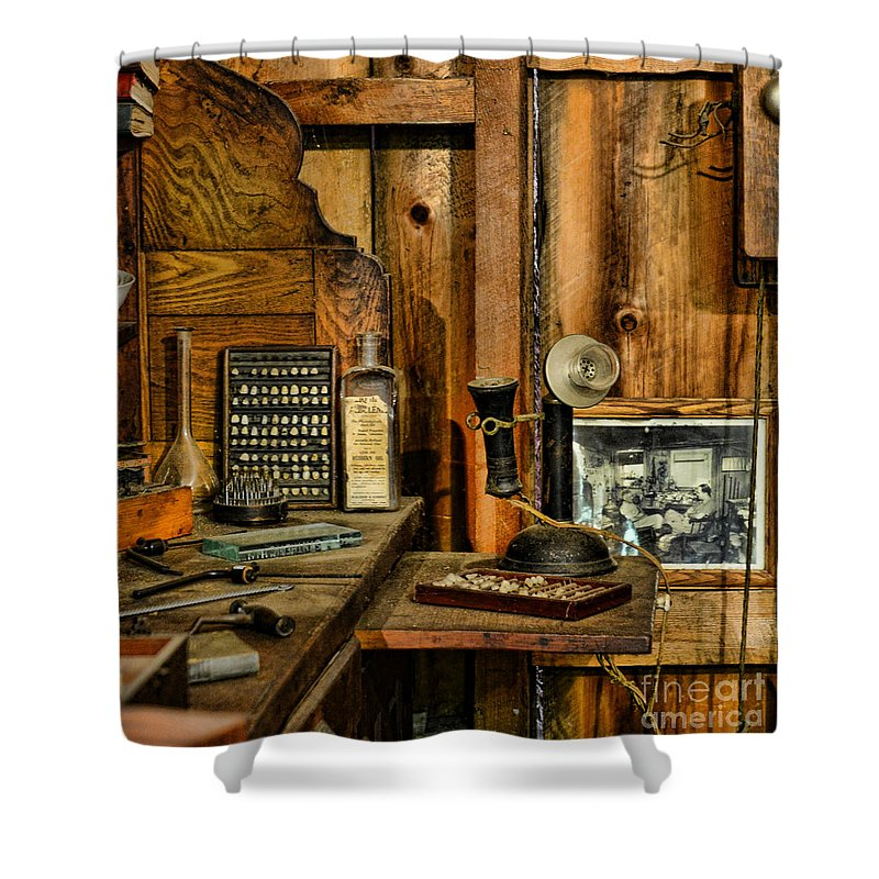 Paul Ward Shower Curtain featuring the photograph The Dentist Office by Paul Ward