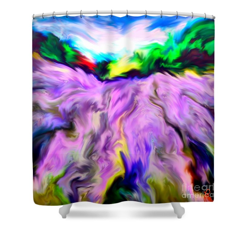 Field Shower Curtain featuring the digital art The Field Of Lavender by Dragica Micki Fortuna
