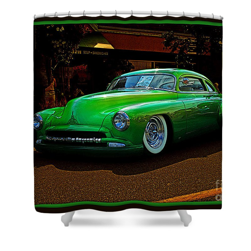 Old Cars Shower Curtain featuring the photograph The Green Machine by Randy Harris