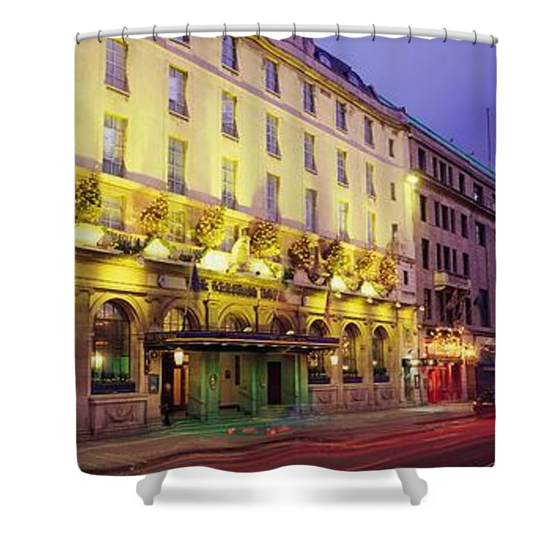 Architecture Shower Curtain featuring the photograph The Gresham Hotel Dublin, Oconnell by The Irish Image Collection