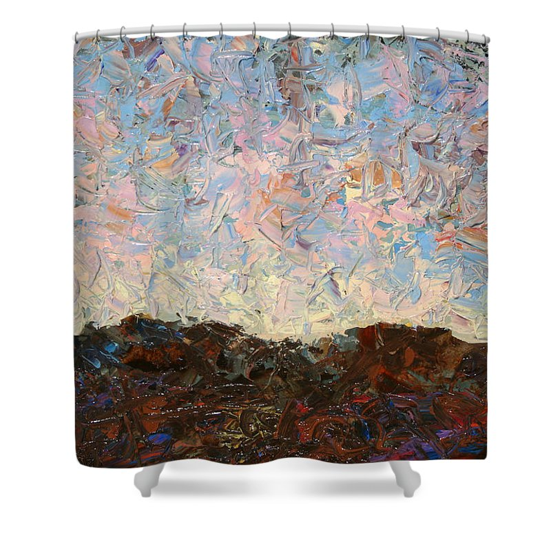 Hills Shower Curtain featuring the painting The Hills by James W Johnson