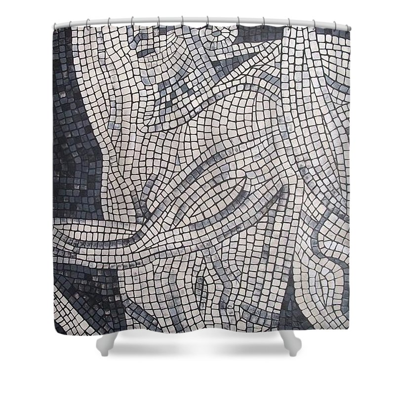 Hunt Shower Curtain featuring the painting The Hunter by Cynthia Amaral