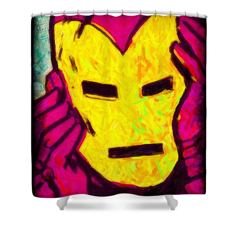 Angst Shower Curtain featuring the photograph The Iron Scream by Jeff Adkins