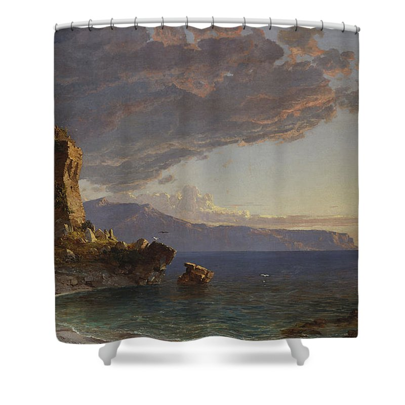 The Isle Of Capri Shower Curtain featuring the painting The Isle Of Capri by Jasper Francis Cropsey