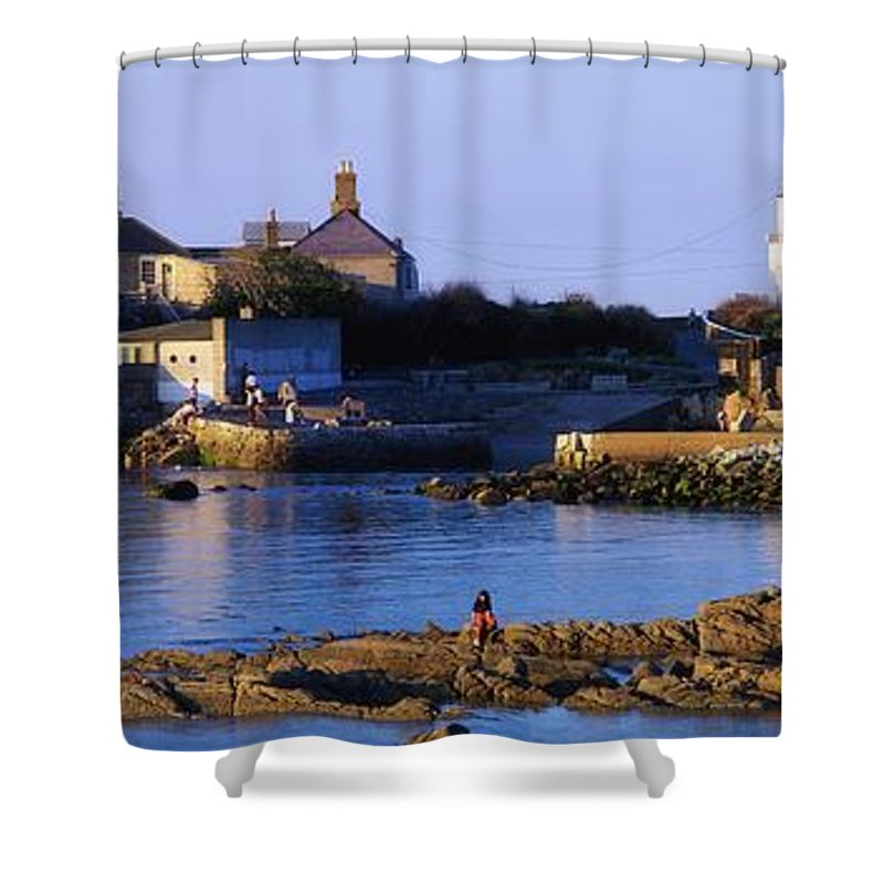 Authors Shower Curtain featuring the photograph The James Joyce Tower, Sandycove, Co by The Irish Image Collection